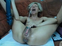 Dildo Chair, squirting