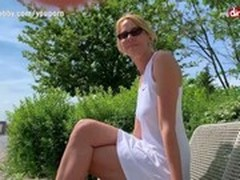 Blonde, Blonde MILF, Creampie, Creampie MILF, German Porn Stars, Deutsch Creampie, German Mature Dp, German Granny Outdoor, Hot MILF, Mom, milf Mom, Outdoor, Perfect Body Teen