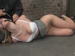 Hogtied, Master Abuses Slave, cumming, Perfect Body Anal, Whore Fuck