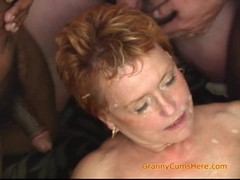 Gangbang, Horny Granny, grandmother, Granny In Gangbang, Horny, Amateur Milf Perfect Body