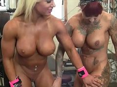 Perfect Tits, Muscle Sluts, FBB, gymnast, Lesbian, Mega Tits, tattooed, Big Tits, Perfect Body Masturbation