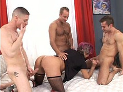 sucking, Gangbang, Horny Granny, grandmother, Granny In Gangbang, Amateur Hard Rough Sex, Hardcore, hole, Teacher Stockings