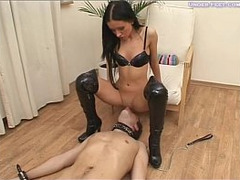 Fishnet Pantyhose Feet, Golden Shower Fuck, Pussy Licking, Mistress, Peeing, piss, Pussy, Pussy Licking Close Up, Bathroom, Sex Slave, Swallowing, Perfect Body Teen