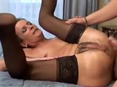 Slut Drilled Fast, Granny Cougar, Granny, sex With Mature, All Holes Gangbanged