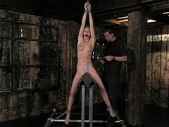 BDSM, torture, Wall Dildo, Domination, Fucking Dungeon, Fetish, dildo, Belly, Curly Hair, Perfect Body Anal